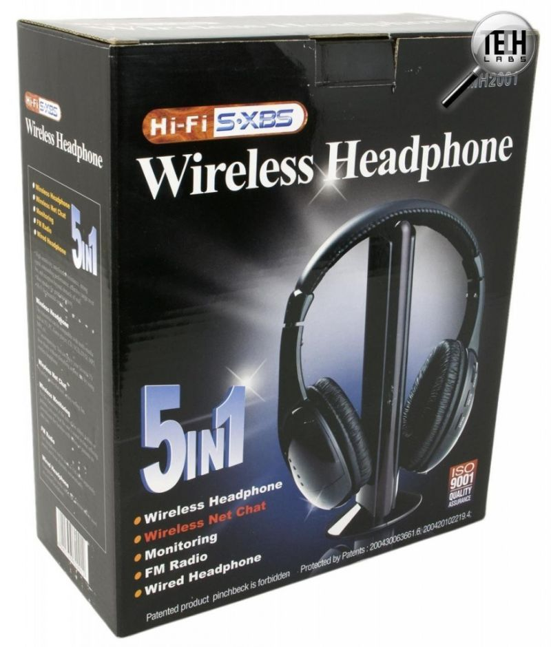 Наушники беспроводные 5 в 1 с FM приемником Wireless Headphone