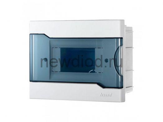 Бокс с прозрачной крышкой ЩРН-П-6 для наружной уст.6-и модульных устройств (30шт) NEW