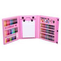 Набор для рисования со складным мольбертом в чемоданчике, 176 предметов, Цвет Розовый (4)