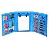 Набор для рисования со складным мольбертом в чемоданчике, Цвет Голубой (4)