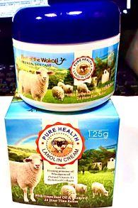 Крем для лица и тела WOKALI Pure Health Lanolin Lotion с овечьей плацентой,125 гр