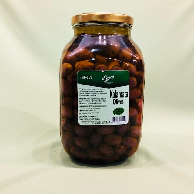 Оливки Каламата (темные) с косточкой 2.4 кг
