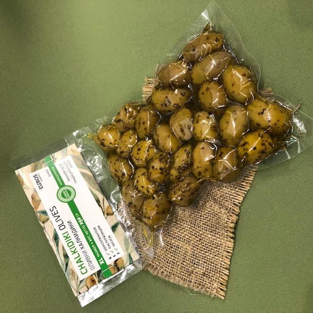 ХАЛКИДИКИ  оливки в вакуумной упаковке 200 гр