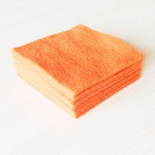 Отрезы - Оранжевый флис (Полартек) однотонный
