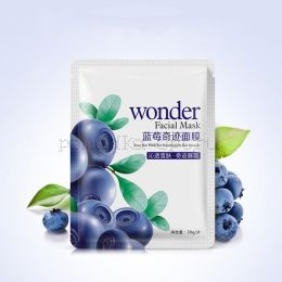 Маска для лица тканевая ЧЕРНИКА Wonder Facial Mask
