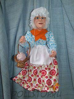 Чешская кукла-марионетка Бабушка - Babička (Чехия, Praha, Hand Made, авторы  Ивета и Павел Новотные)