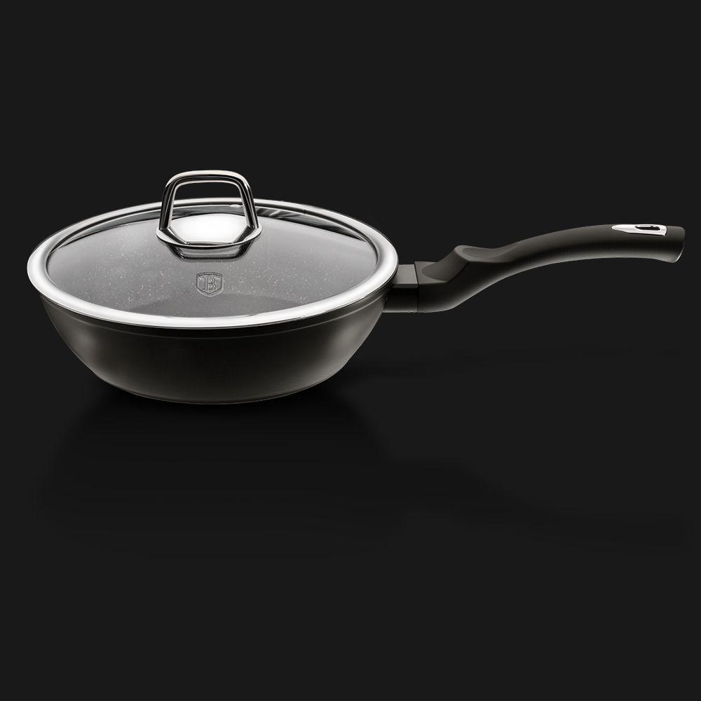 Сковорода с крышкой 24 см Berlinger Haus BH-1853 Black Silver Line