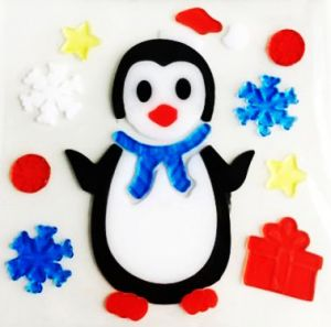Гелевая наклейка Пингвин
