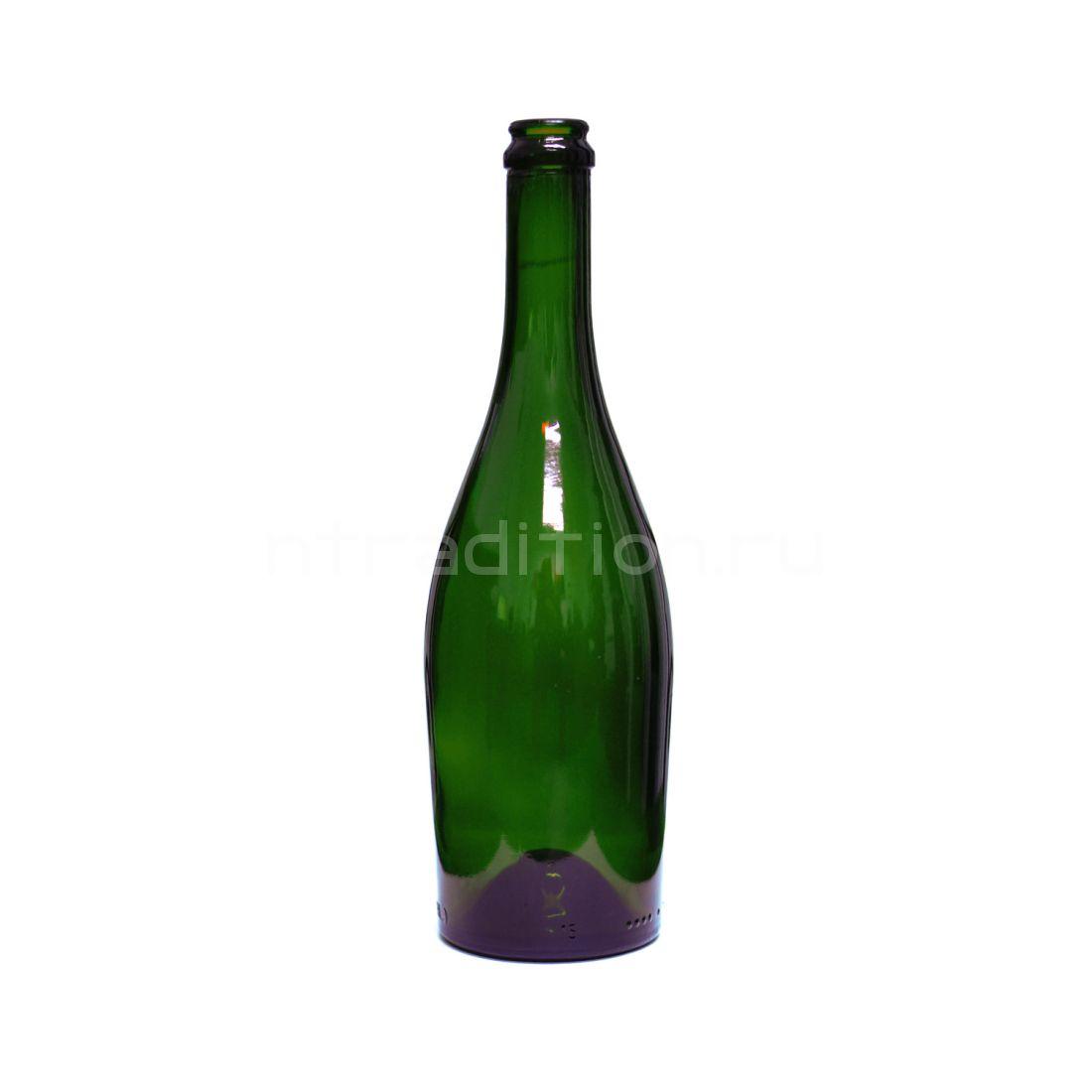 Бутылка Астра зеленое стекло (для игристых вин) 0,75 л / 9 шт.