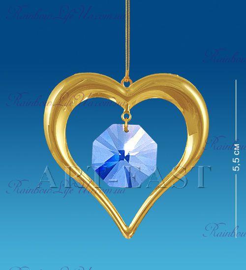 "Подвеска Сердце с камнями ""Swarovski"""