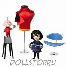 Набор кукол Суперсемейка 2: Эдна и Джек-Джек - Disney Store Edna and Jack-Jack Limited Edition Doll Set, The Incredibles 2