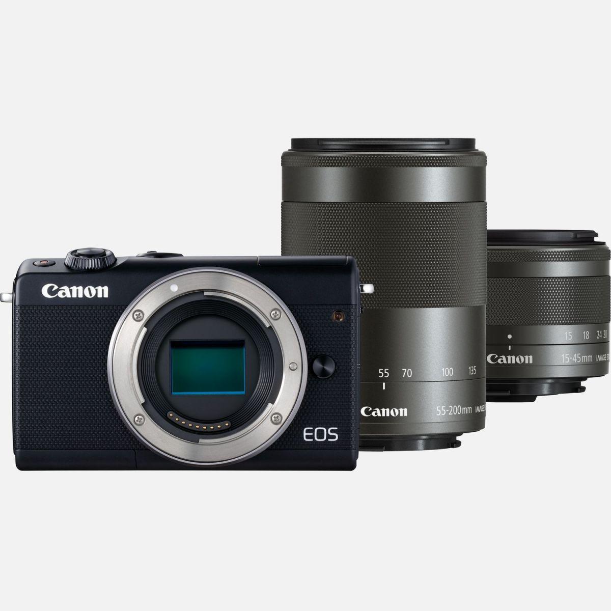 CANON EOS M 3 KIT 15-45MM IS STM +M55-200 IS STM BLACK