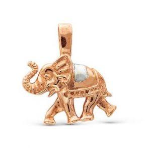 """Позолоченная подвеска """"Слон"""" с цепочкой (арт. 788075)"""