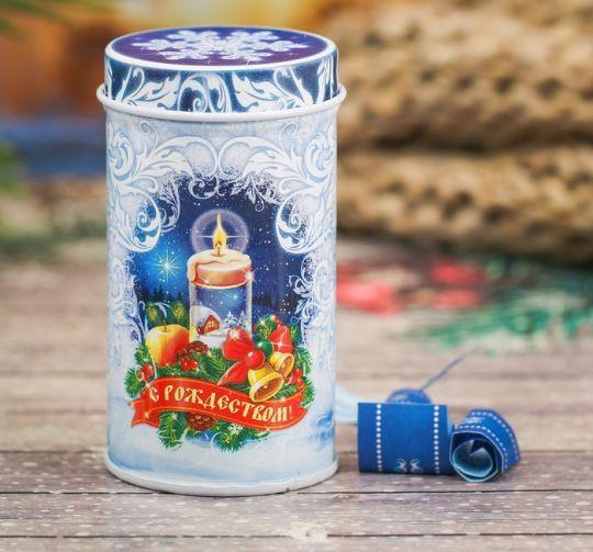 Баночка с предсказаниями Рождественская свеча