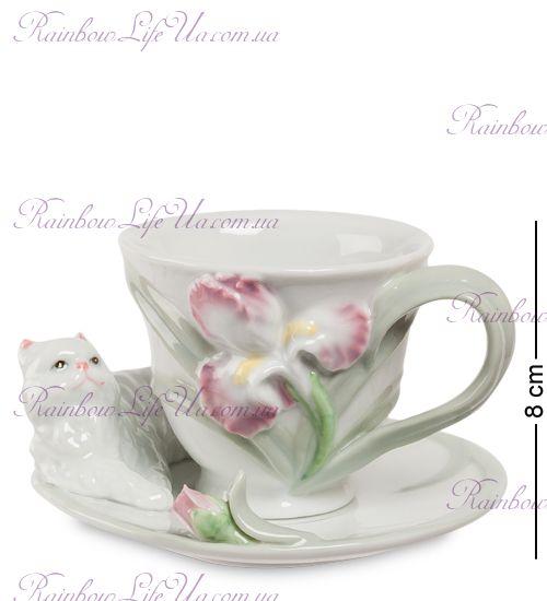 Чайная пара Котенок с ирисом ''Pavone''