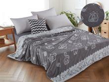 Плед  велсофт FLUFFY 1.5-спальный 150*200 Арт.150/007-SH