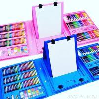 Набор для рисования со складным мольбертом в чемоданчике, 176 предметов