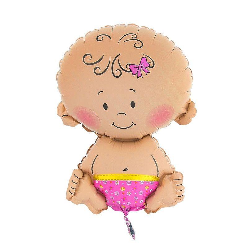 Шар с гелием Малышка девочка 66 см на выписку