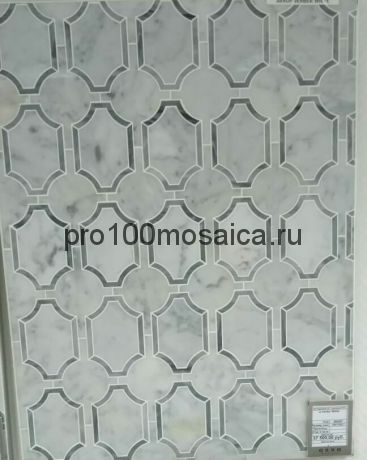 VERBER WHITE. Мозаика серия Water Jet, размер, мм: 305*282,7*10 (ORRO Mosaic)