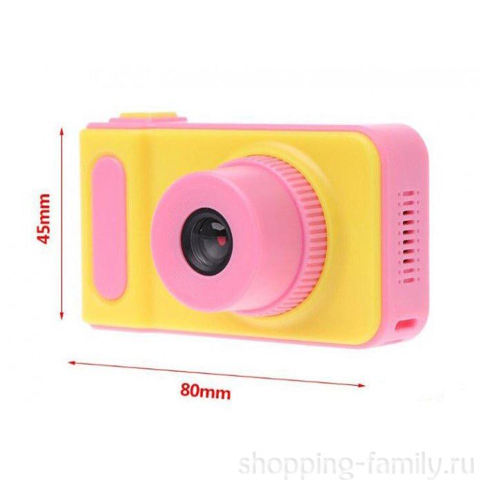 Детский фотоаппарат цифровой Photo Camera Kids, Цвет Желтый