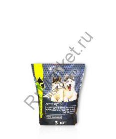 Корм для взрослых собак крупных и средних пород с говядиной РЕГУЛЯР
