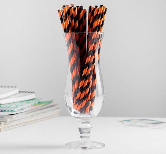 Трубочки черно-оранжевые