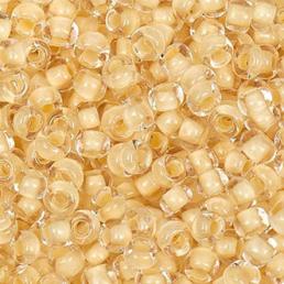 Бисер чешский 38381 прозрачный светло-желтая линия внутри Preciosa 1 сорт купить оптом