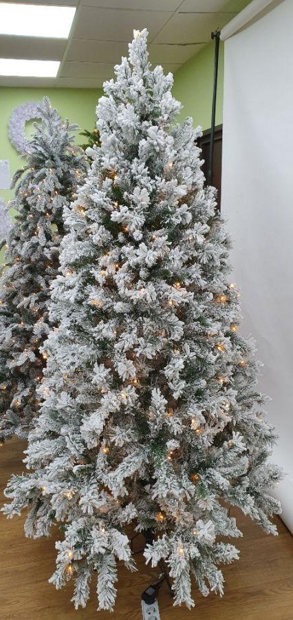 Искусственная елка Атлантида 185 см 216 ламп заснеженная