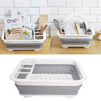 Сушилка-поддон для посуды складная силиконовая, 38х29х12 см (1)