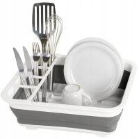Сушилка-поддон для посуды складная силиконовая, 38х29х12 см (2)