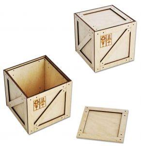 Коробка-ящик под подарок (95 мм)
