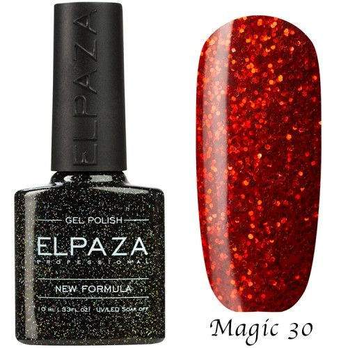 Гель лак ELPAZA MAGIC GLITTER 10 мл ВЕЗУВИЙ 30