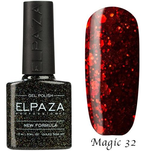Гель лак ELPAZA MAGIC GLITTER 10 мл ФЕНИКС 32