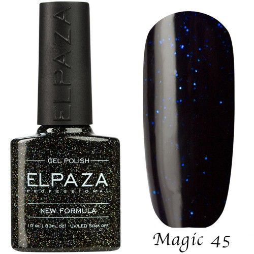 Гель лак ELPAZA MAGIC GLITTER 10 мл   ГАЛАКТИКА 45