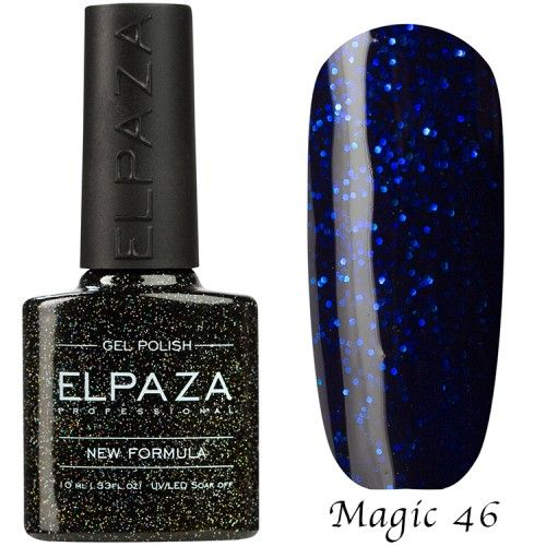 Гель лак ELPAZA MAGIC GLITTER 10 мл  ТАНЗАНИТ 46