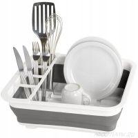 Складная силиконовая сушилка-поддон для посуды, 38х29х12 см