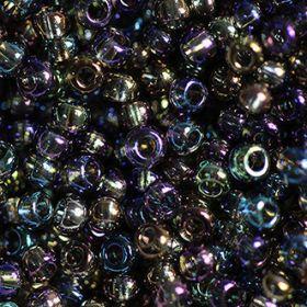 Бисер чешский 41010 прозрачный серо-лиловый радужный Preciosa 1 сорт