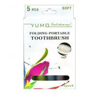 Дорожные зубные щетки Colorful Folding Portable Toothbrush, 5 шт (5)