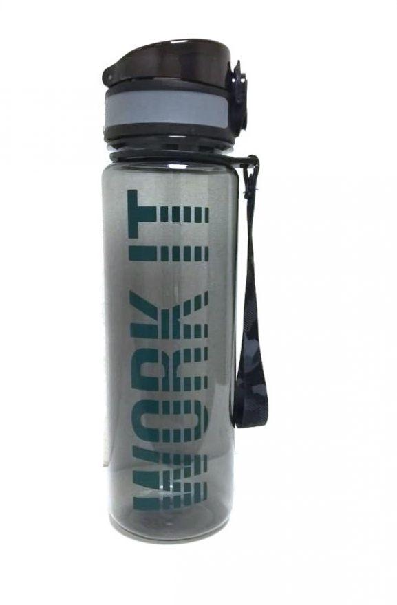 Спортивная бутылка для воды с клапаном Work It, 470 мл (Цвет: Черный)