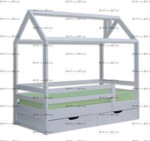 Кровать-домик с ящиками Ненси №В