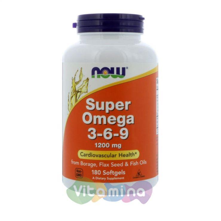 Супер Омега 3-6-9, 180 капсул