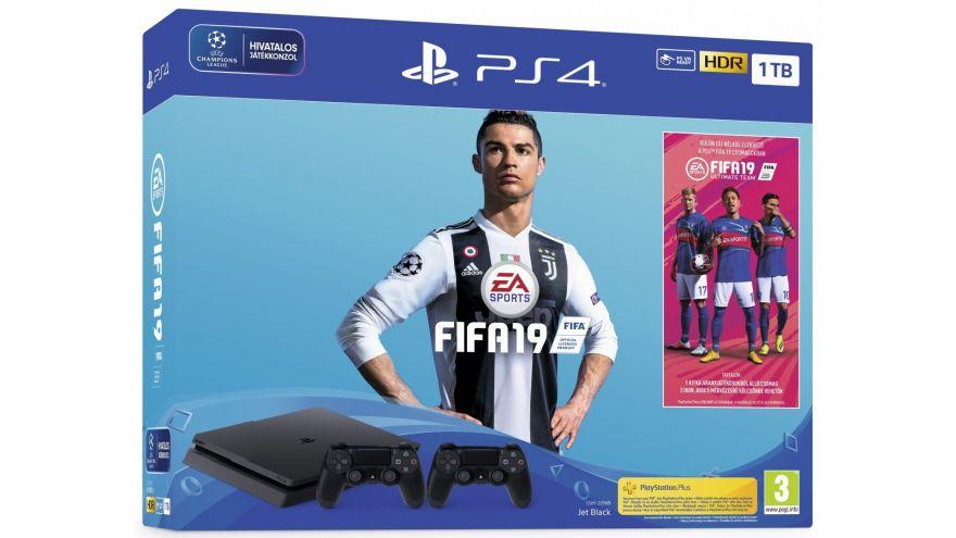 Sony Playstation Slim 1 TB CUH-2216B + DualShock 4  + FIFA19  (Английский Язык)