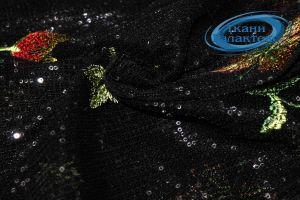 Сетка вышивка пайетки LI-16458/D1/C#1