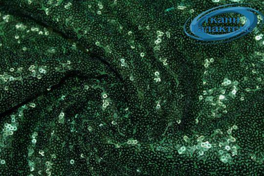 Сетка с пайетками DT-12538/C#5 зеленый