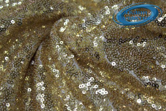 Сетка с пайетками DT-12538/C#7 золото