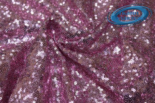 Сетка с пайетками DT-12538/C#8 розовый