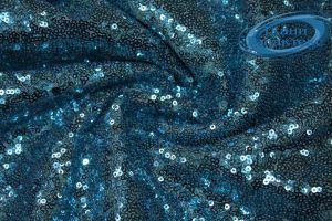 Сетка с пайетками DT-12538/C#3 голубой