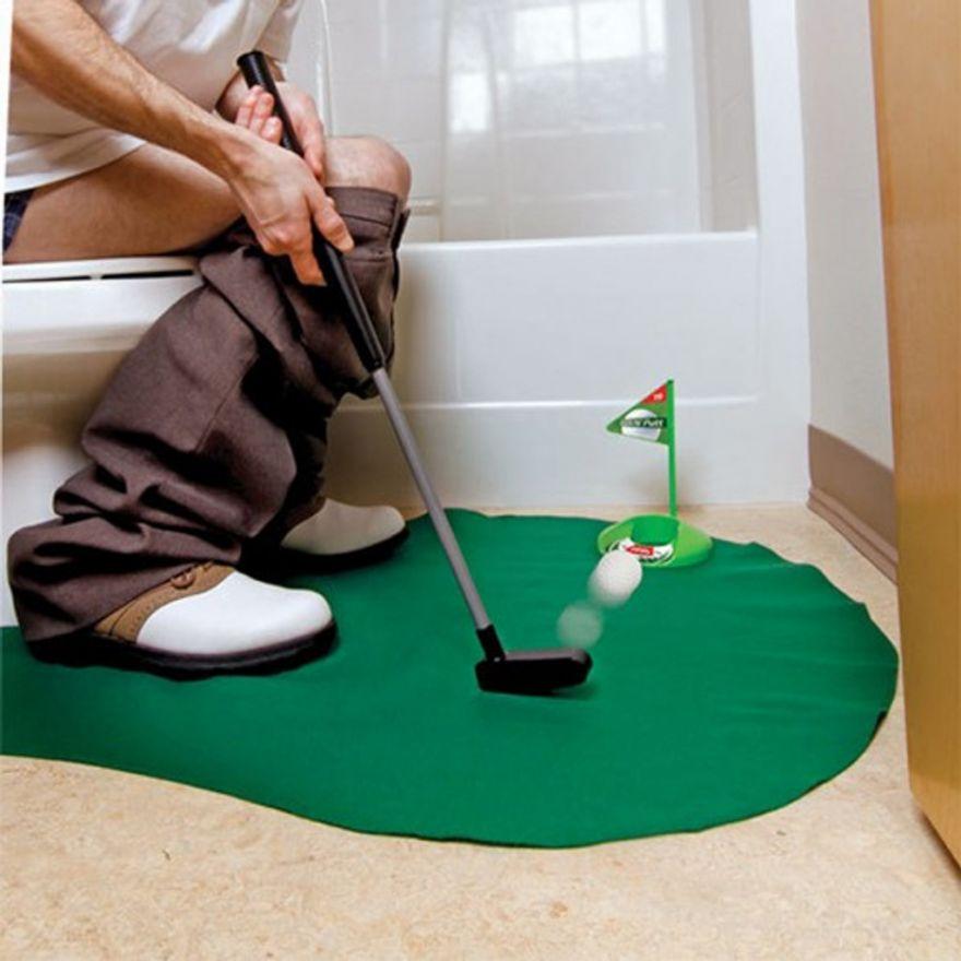 Гольф для игры в туалете Toilet Golf