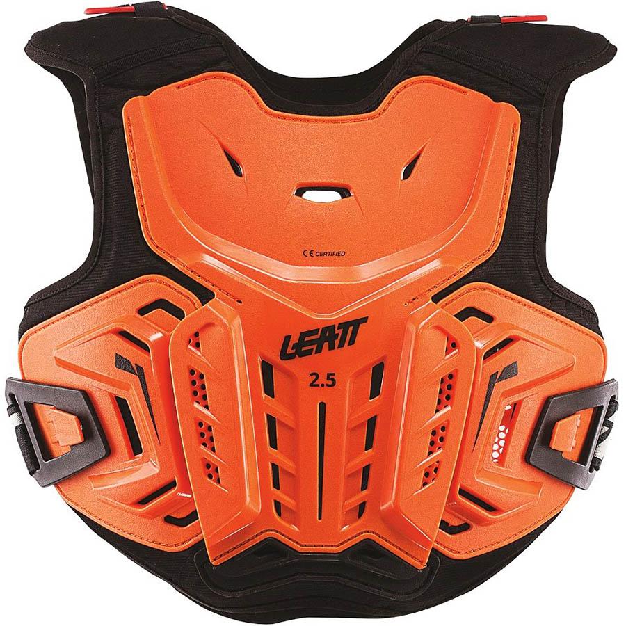 Leatt Chest Protector 2.5 Junior Orange/Black защита торса подростковая, оранжево-черная
