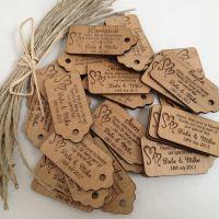 Лазерная гравировка бирки из дерева на заказ